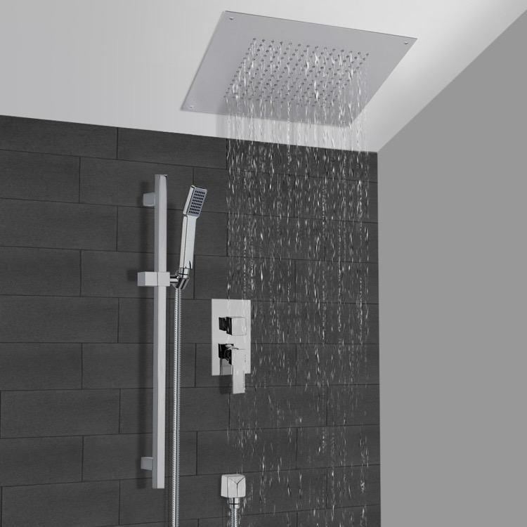 Shower Faucet, Remer CS001, Chrome Shower System With 16