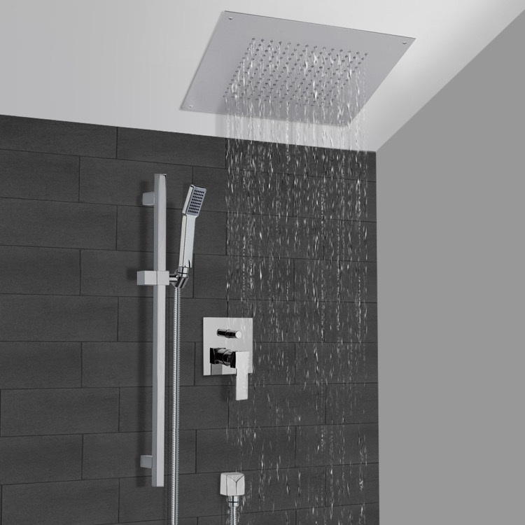 Shower Faucet, Remer CS003, Chrome Shower System With 16