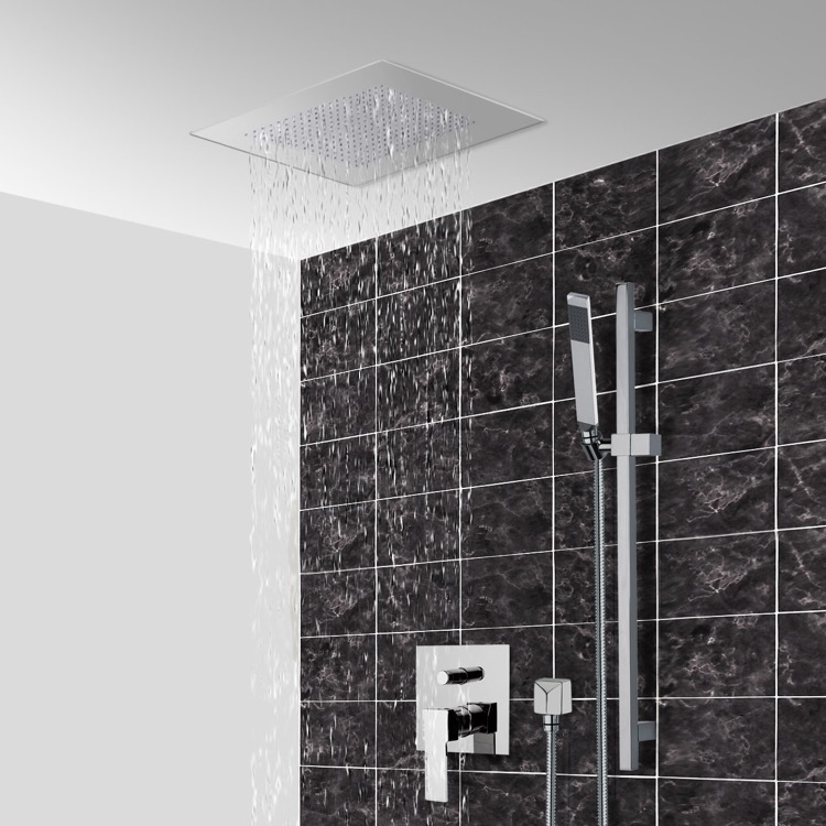 Shower Faucet, Remer CS005, Chrome Shower System With 16