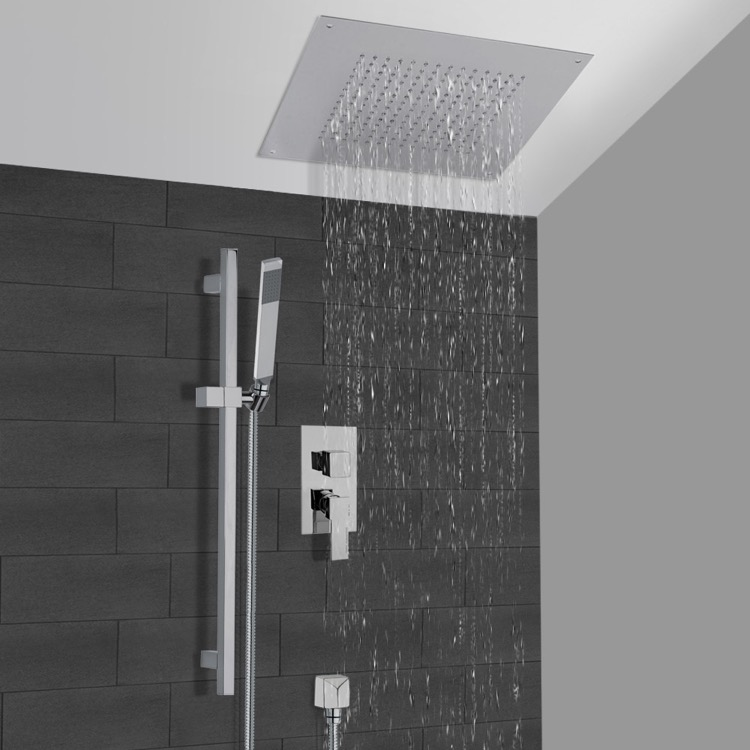 Shower Faucet, Remer CS006, Chrome Shower System With 16