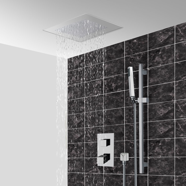 Shower Faucet, Remer CS007, Thermostatic Shower System With 16