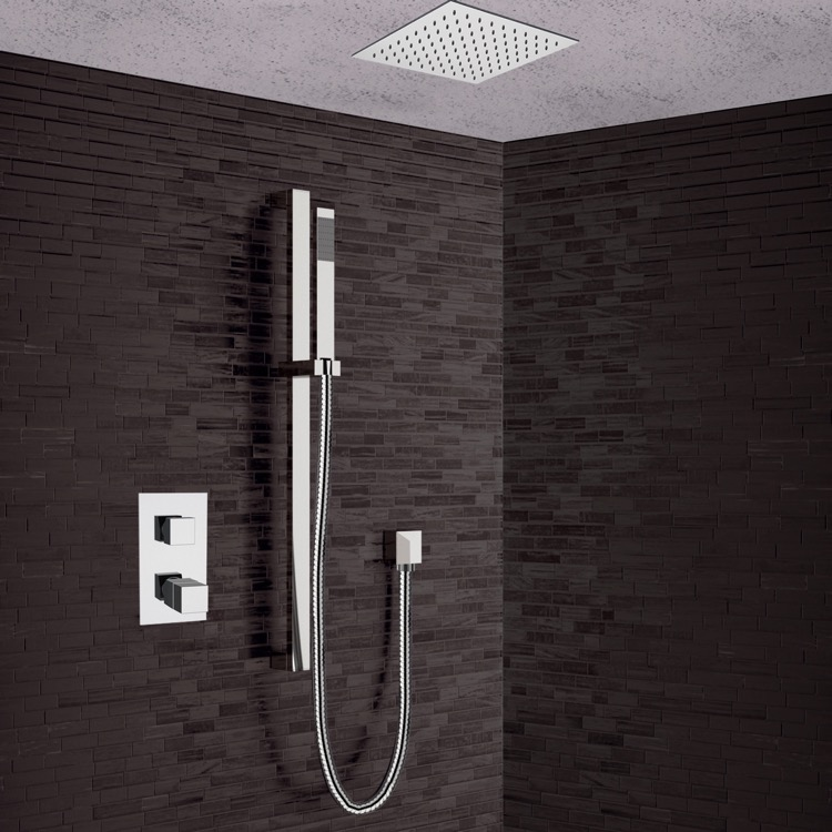 Shower Faucet, Remer CS011, Chrome Thermostatic Shower System with 13