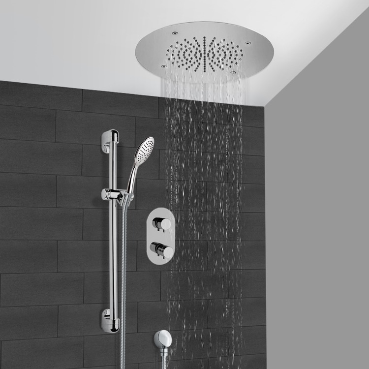 Shower Faucet, Remer CS102, Chrome Thermostatic Shower System With 16