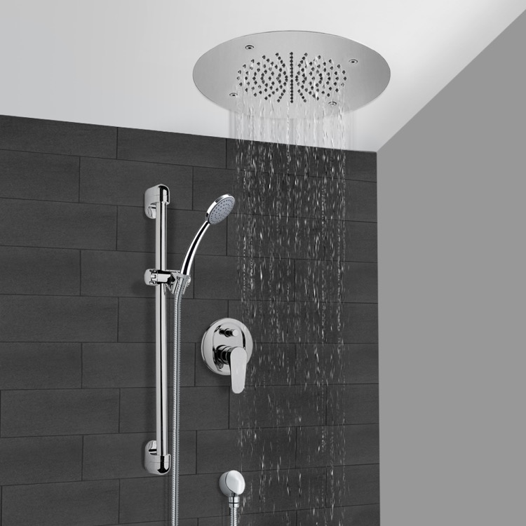Shower Faucet, Remer CS103, Chrome Shower System With 16