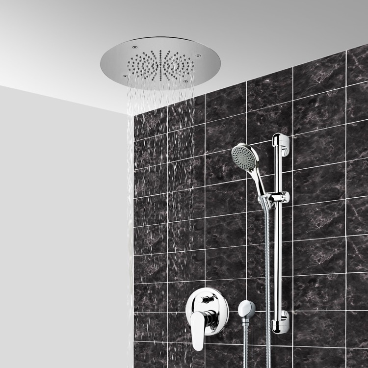 Shower Faucet, Remer CS104, Chrome Shower System With 16