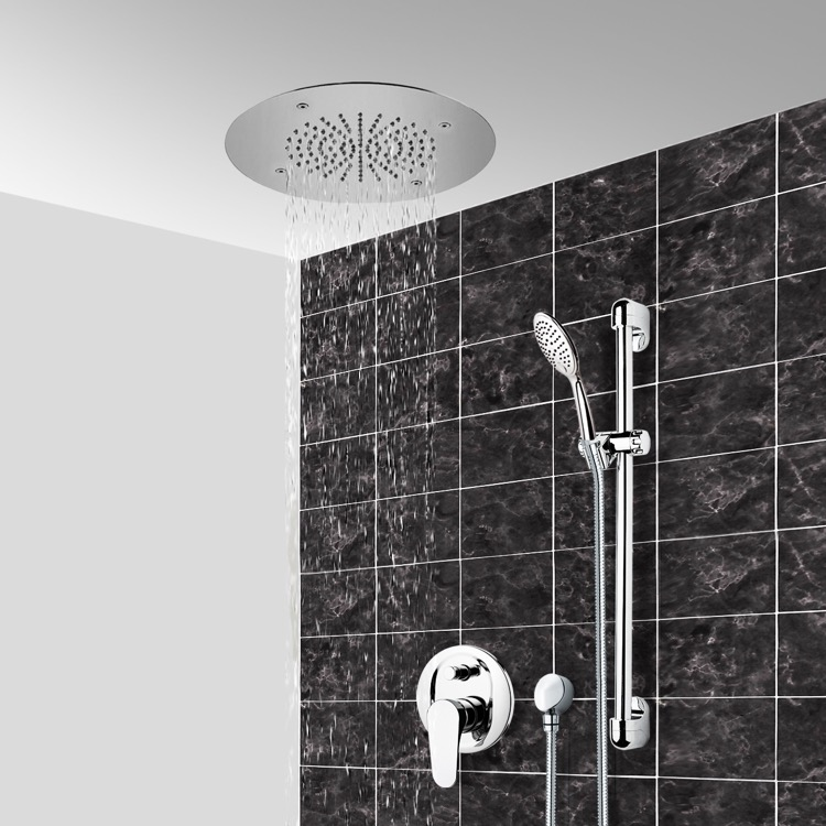 Shower Faucet, Remer CS105, Chrome Shower System With 16