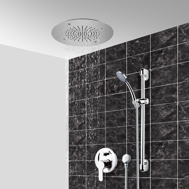 Shower Faucet, Remer CS106, Chrome Shower System With 16