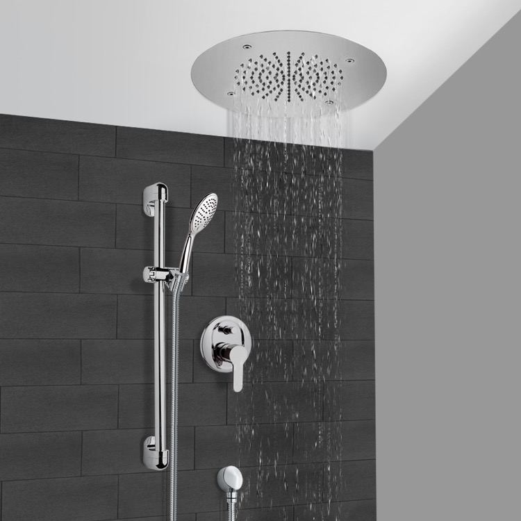 Shower Faucet, Remer CS108, Chrome Shower System With 16