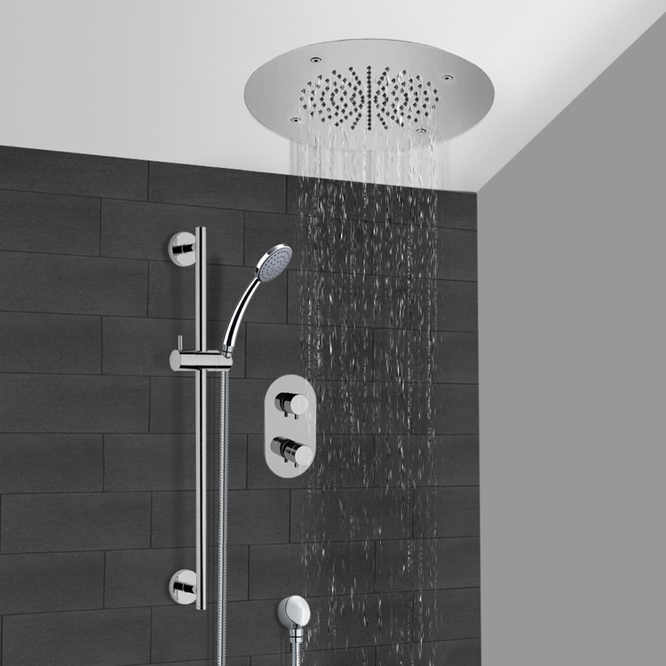 Shower Faucet, Remer CS110, Chrome Thermostatic Shower System With 16