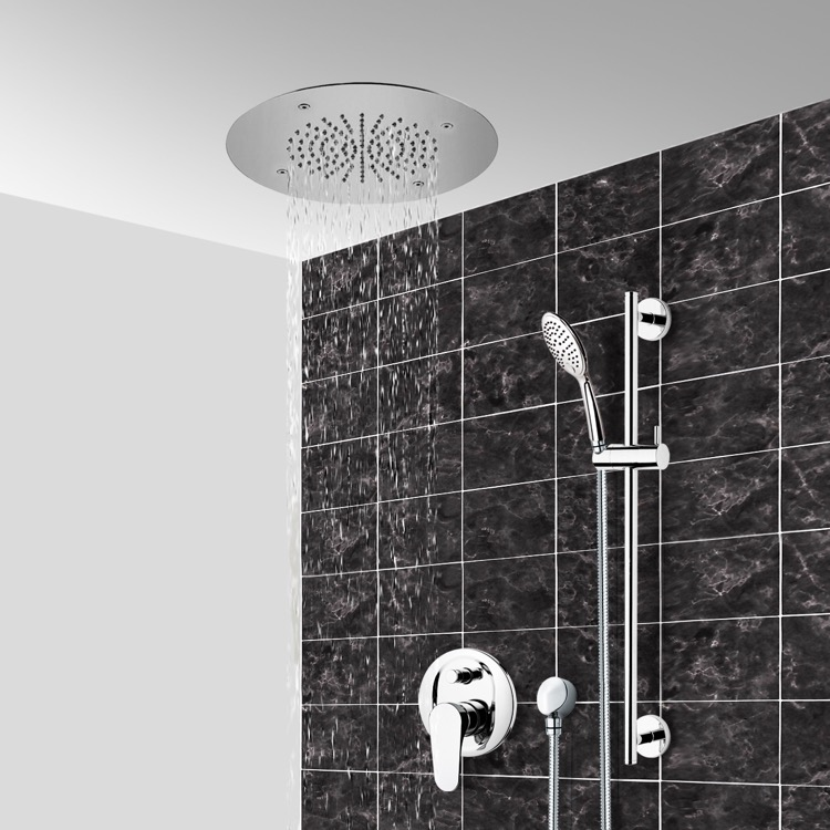 Shower Faucet, Remer CS112, Chrome Shower System With 16