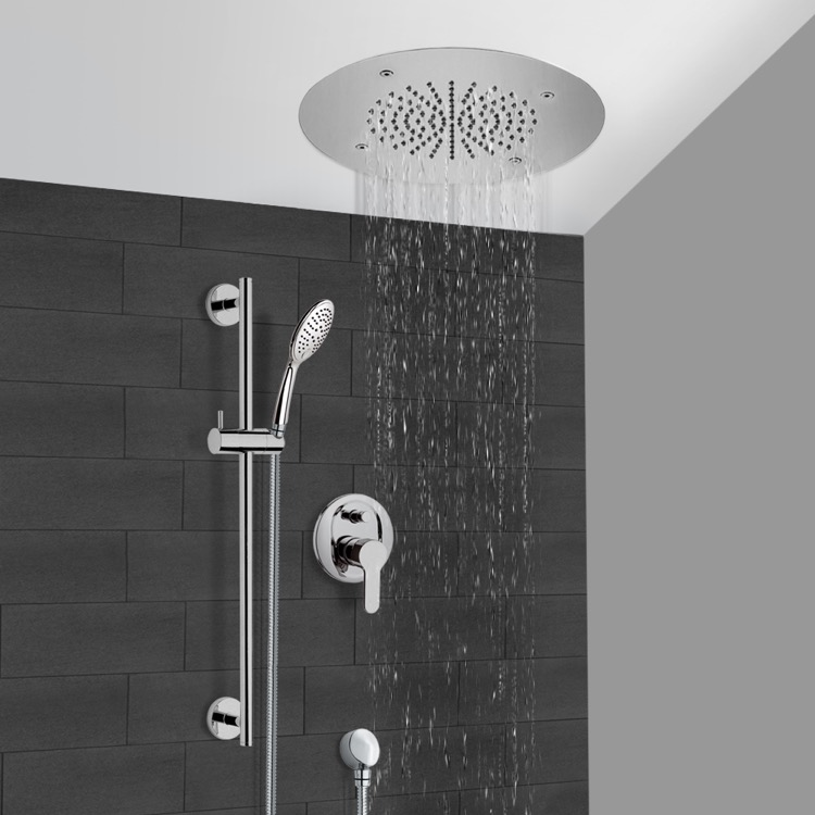 Shower Faucet, Remer CS115, Chrome Shower System With 16