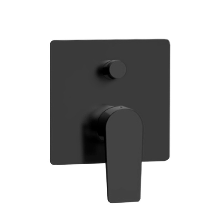 Diverter, Remer D09NO, Matte Black Wall Mounted Diverter