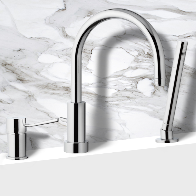 Tub Filler, Remer N07, Roman Bathtub Faucet with Hand Shower