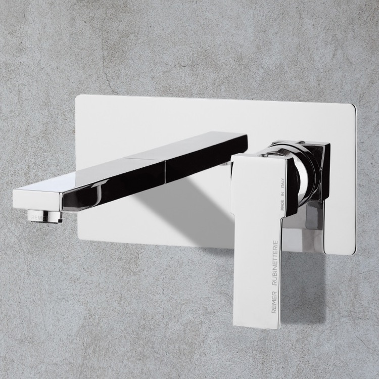 Bathroom Faucet, Remer Q15US, Chrome Single Handle Wall Mount Bathroom Sink Faucet