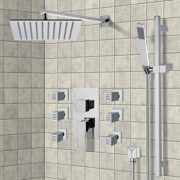 Shower Faucet, Remer S6, Chrome Shower System with 10