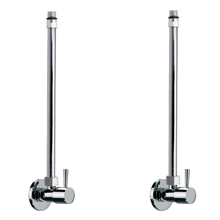 Angle Valve, Remer SA100CR, Chrome Pair Of Angle Valves With Bendable Copper Pipe