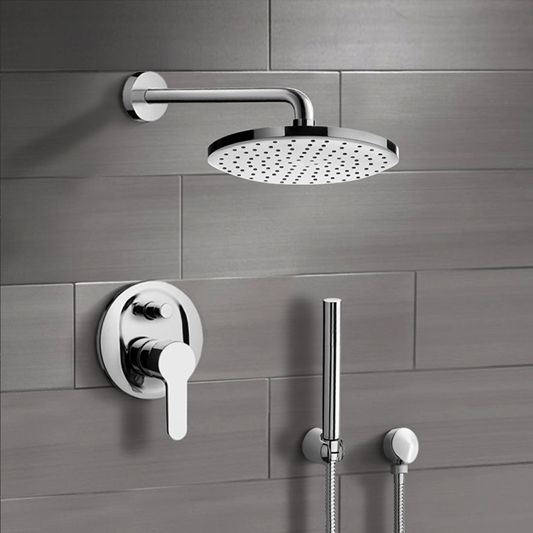 Shower Faucet, Remer SFH21-8, Chrome Shower System with 8