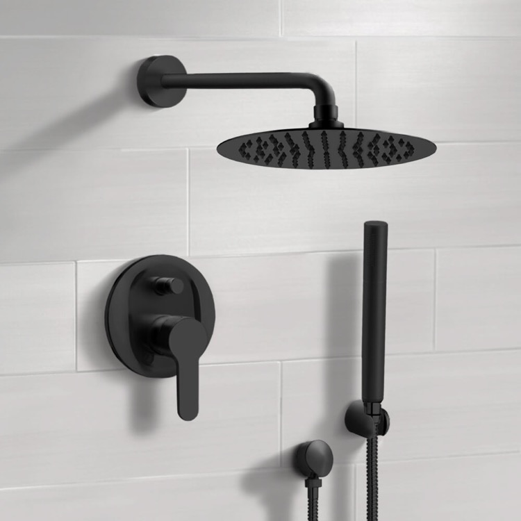 Shower Faucet, Remer SFH34-10, Matte Black Shower System With 10