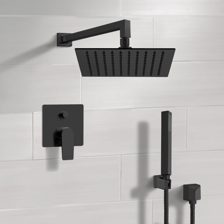 Shower Faucet, Remer SFH36-10, Matte Black Shower Set With 10