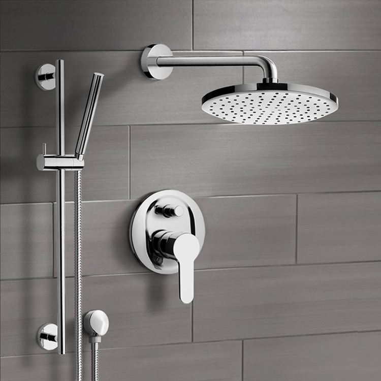 Shower Faucet, Remer SFR21-8, Chrome Shower System with 8