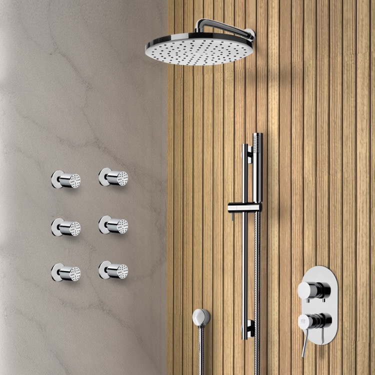 Shower Faucet, Remer SFR23-8, Chrome Shower System with 8