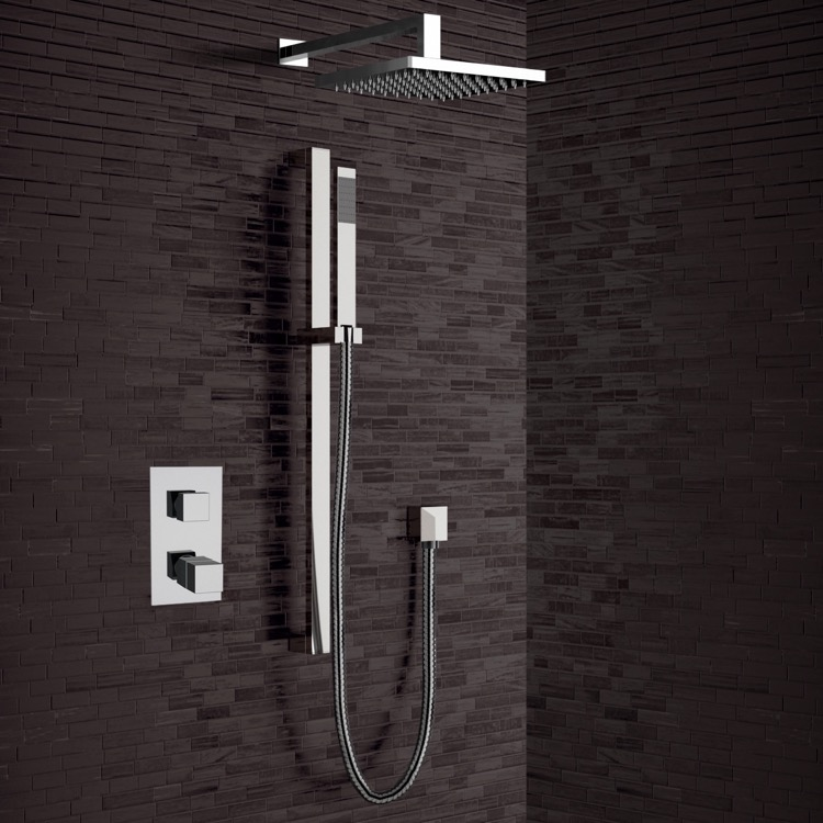 Shower Faucet, Remer SFR24-8, Chrome Thermostatic Shower System with 8