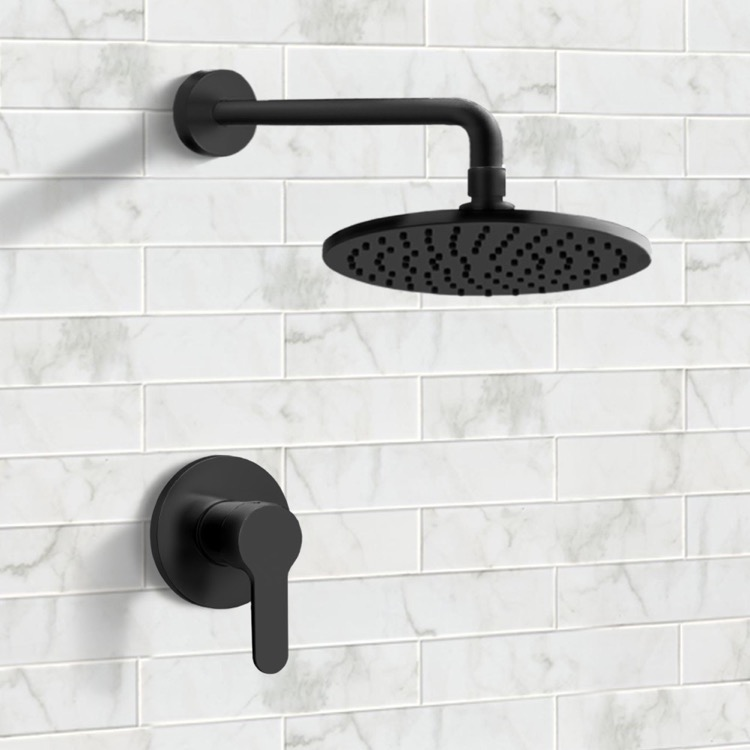 Shower Faucet, Remer SS40, Matte Black Shower Faucet Set with 8