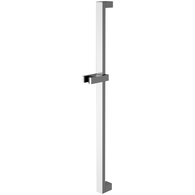 Shower Slidebar, Remer 317Q, Squared 27 Inch Sliding Rail Available in Chrome Finish