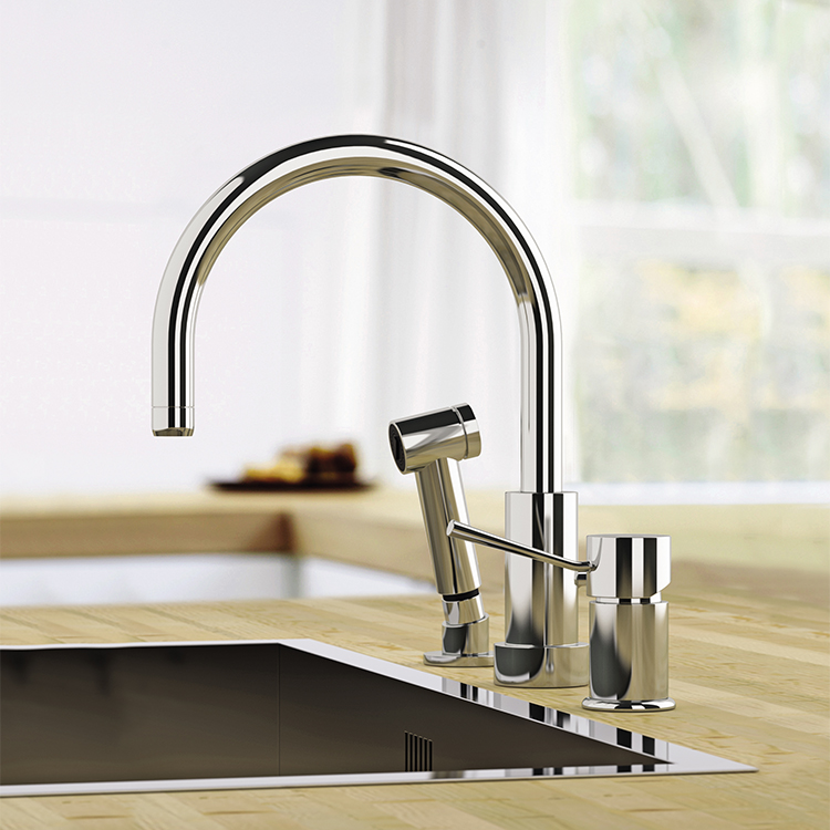 Remer N48332eu By Nameeks Minimal Chrome Widespread Kitchen Faucet