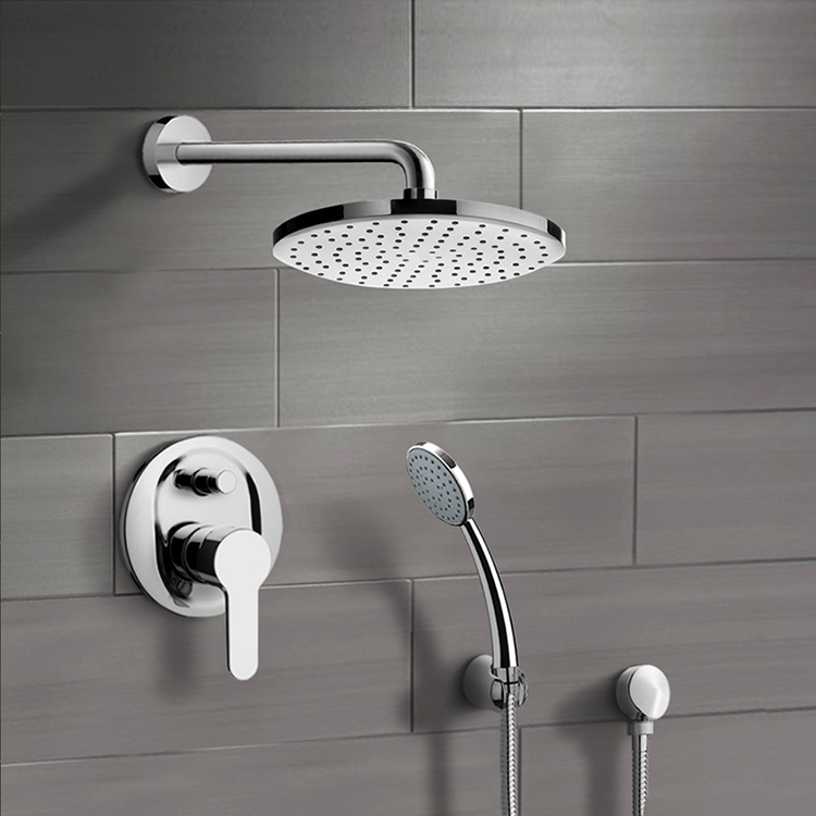 Shower Faucet, Remer SFH11-8, Chrome Shower System with 8