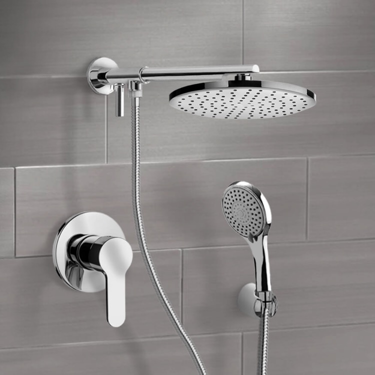 Shower Faucet, Remer SFH14-8, Chrome Shower System With 8