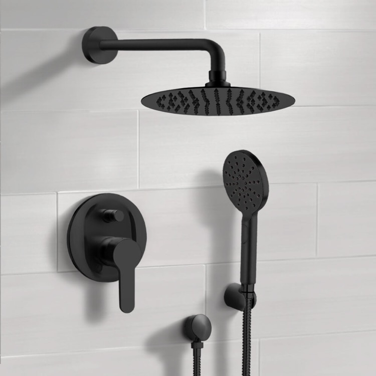 Shower Faucet, Remer SFH51-10, Matte Black Shower Set With 10