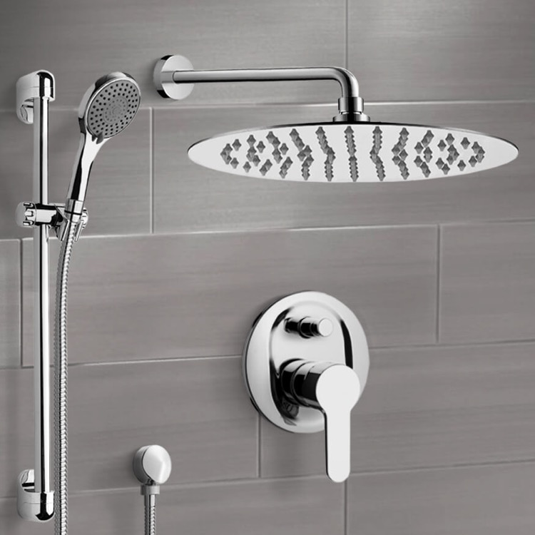 Shower Faucet, Remer SFR15, Chrome Shower Set With 16