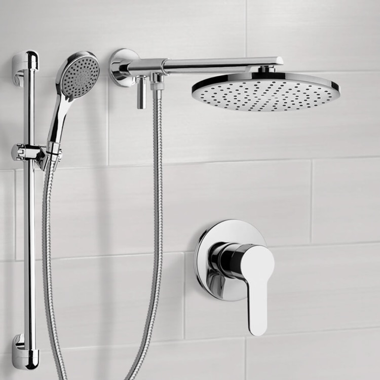 Shower Faucet, Remer SFR16-8, Chrome Shower Set With 8