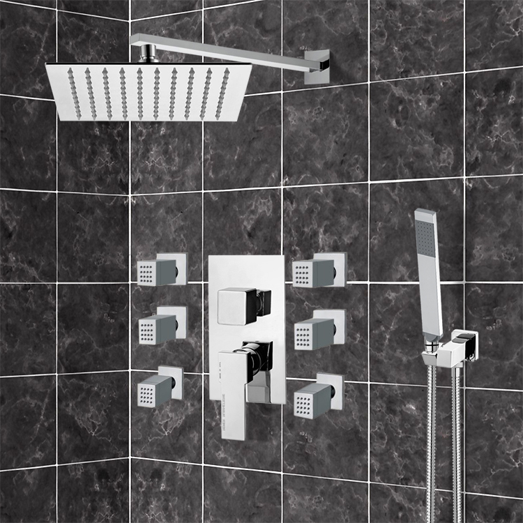 Shower Faucet, Remer S18, Chrome Shower System With 10
