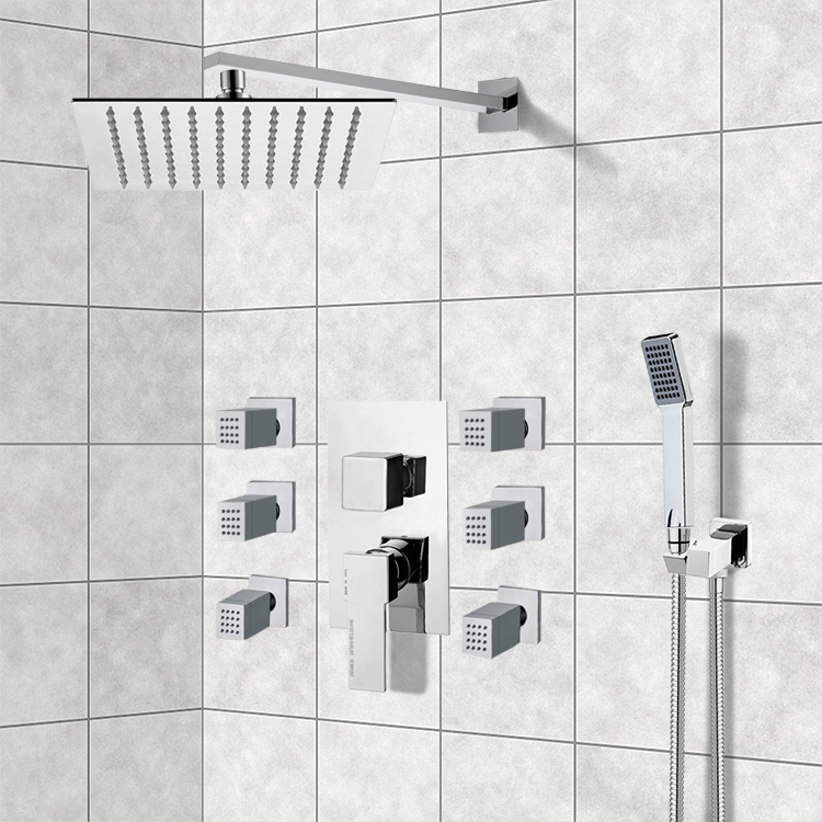 Remer S21 By Nameek S Raniero Chrome Shower System With 10 Rain