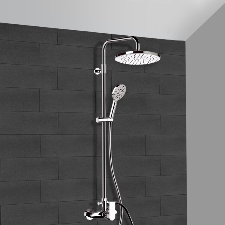 Remer Sc521 By Nameek S Infinity Chrome Exposed Pipe Shower System