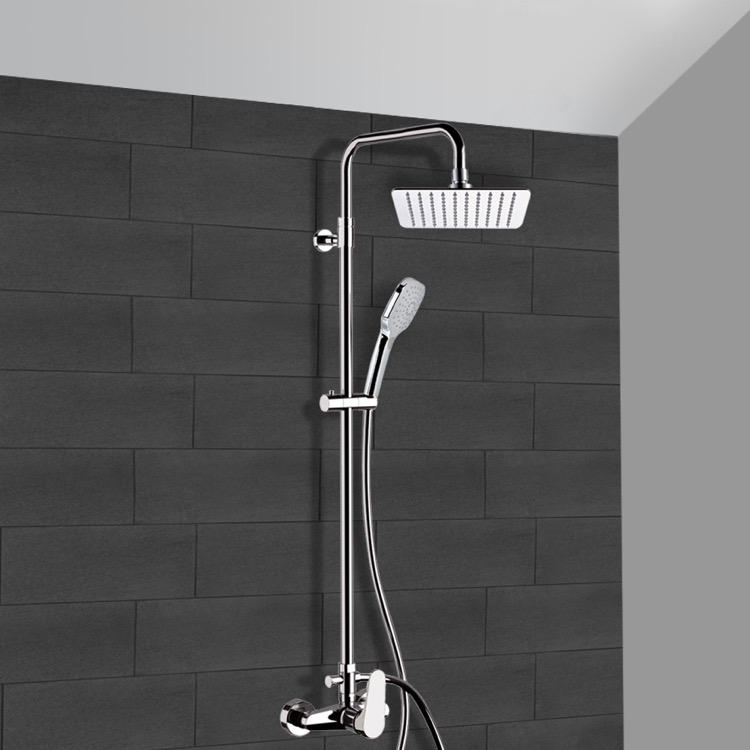 Remer SC527 By Nameek\'s Class Line Chrome Exposed Pipe Shower System ...