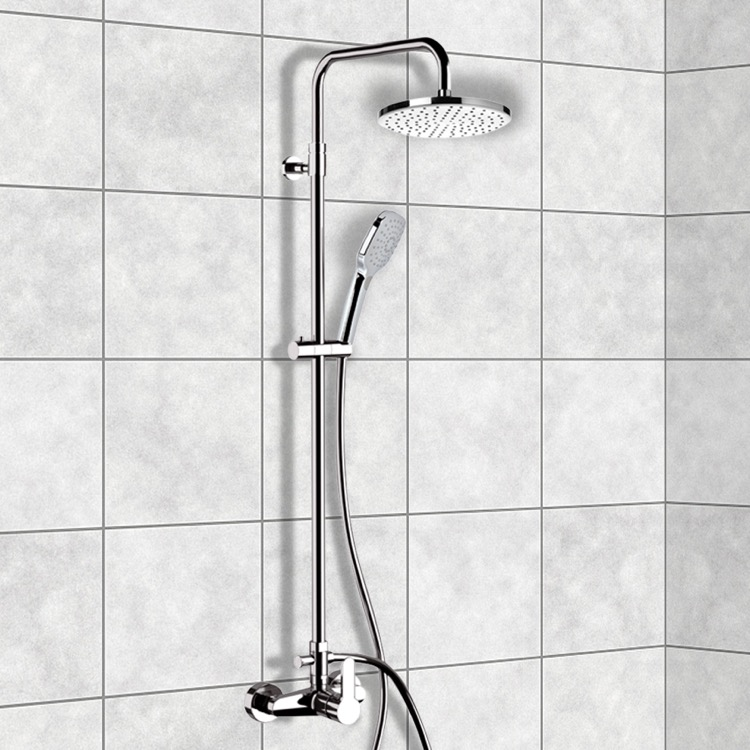 exposed pipe shower . Exposed Pipe Shower  Remer SC536 Chrome System With 8 By Nameek S Winner