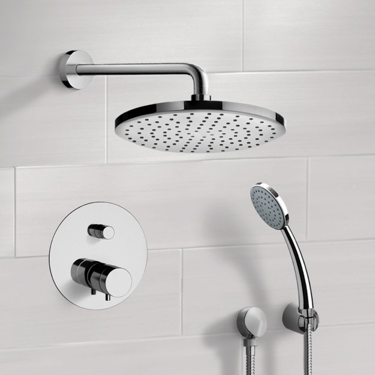 Chrome Thermostatic Shower System with 8\