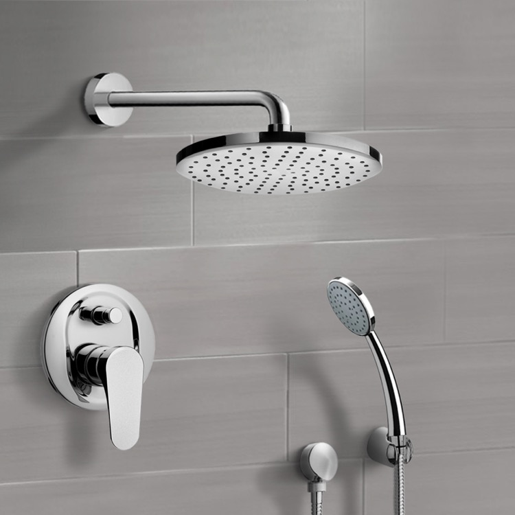 Shower Faucet, Remer SFH04-8, Chrome Shower System with 8