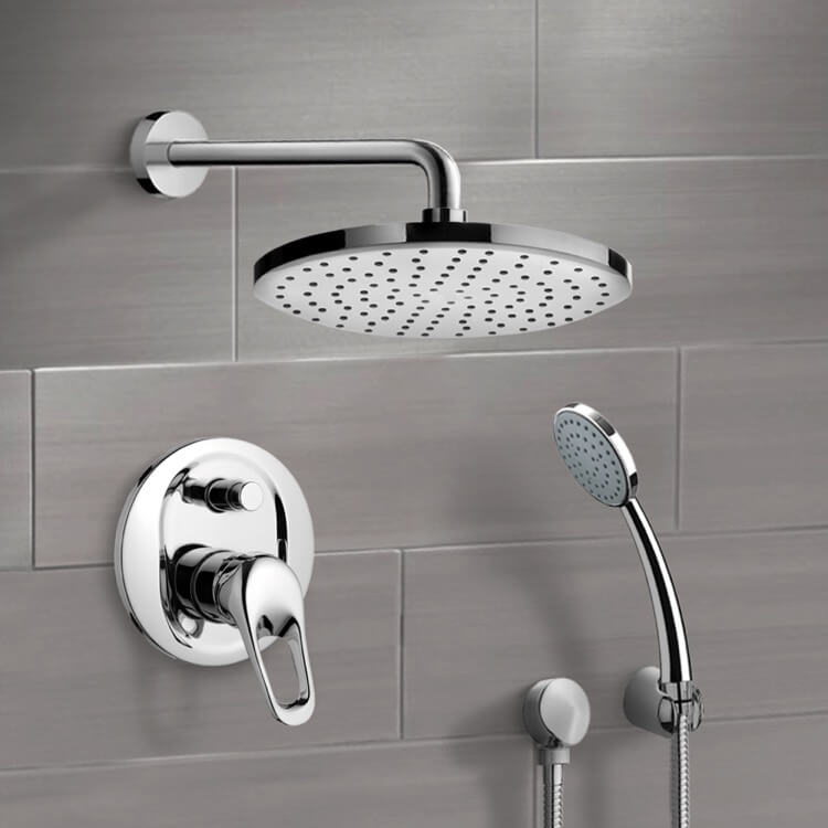 Shower Faucet, Remer SFH05-8, Chrome Shower System with 8