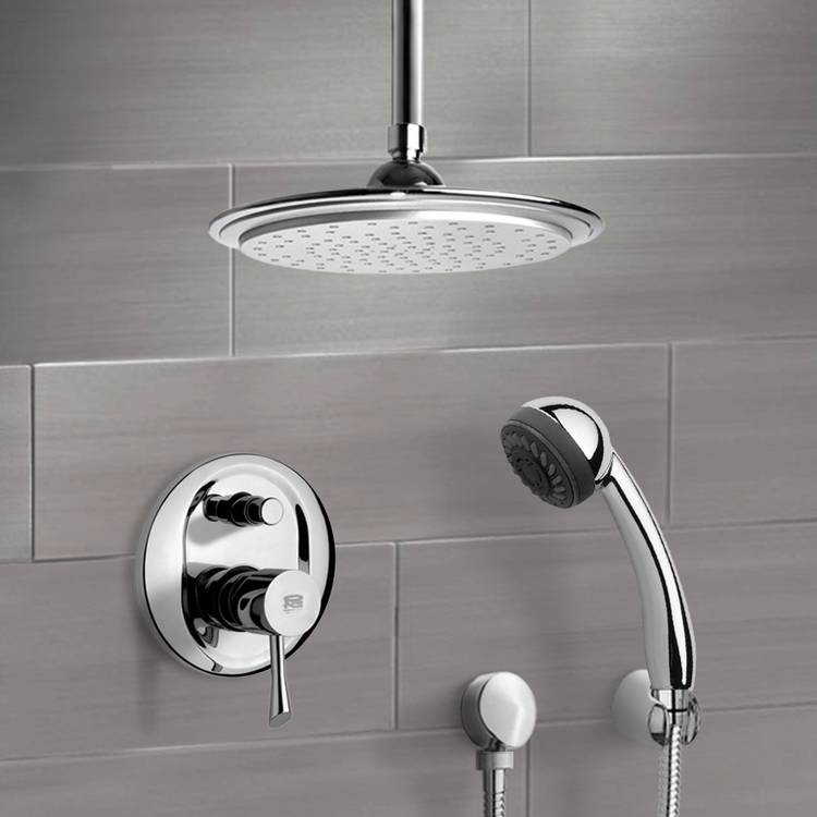 Shower Faucet, Remer SFH6013, Chrome Shower System with 9