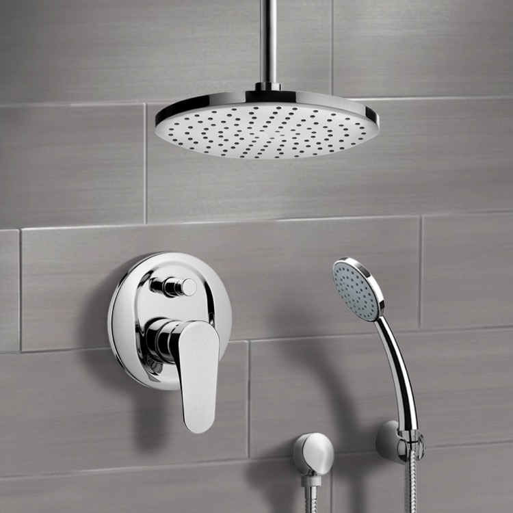 Shower Faucet, Remer SFH6014-8, Chrome Shower System with 8