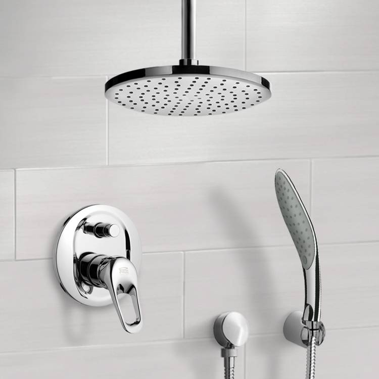 Shower Faucet, Remer SFH6015-8, Chrome Shower System with 8