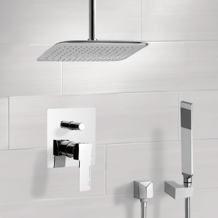 Shower Faucet, Remer SFH6018, Chrome Shower System with Ceiling 14