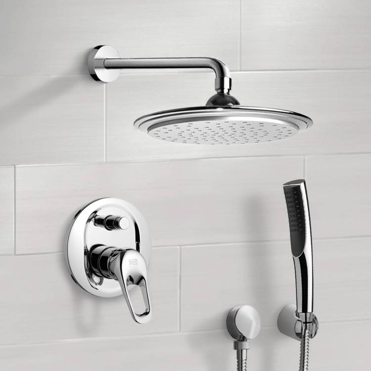 Shower Faucet, Remer SFH6043, Chrome Shower System with 9