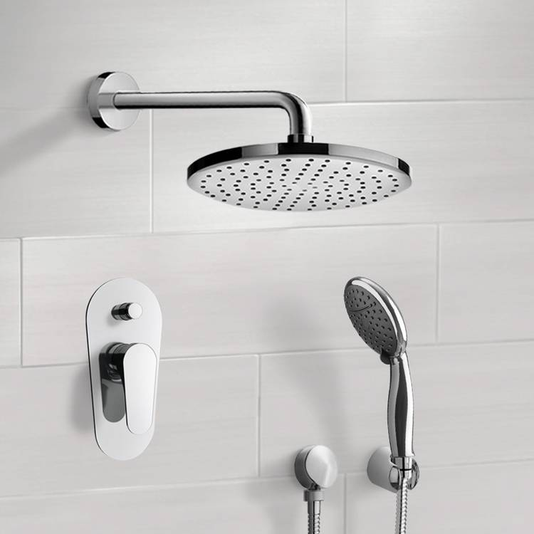 Shower Faucet, Remer SFH6048, Chrome Shower System With 10