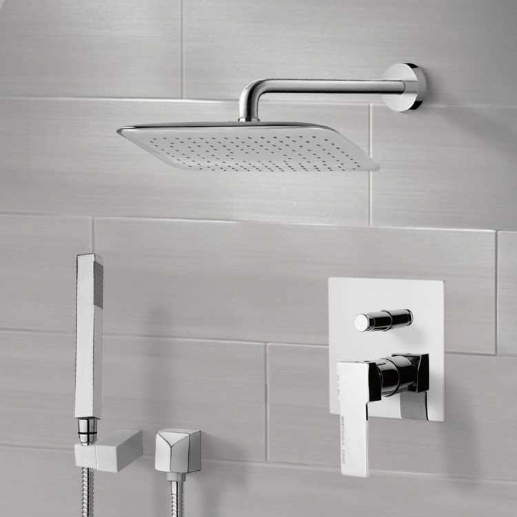 Shower Faucet, Remer SFH6055, Chrome Shower System with 14