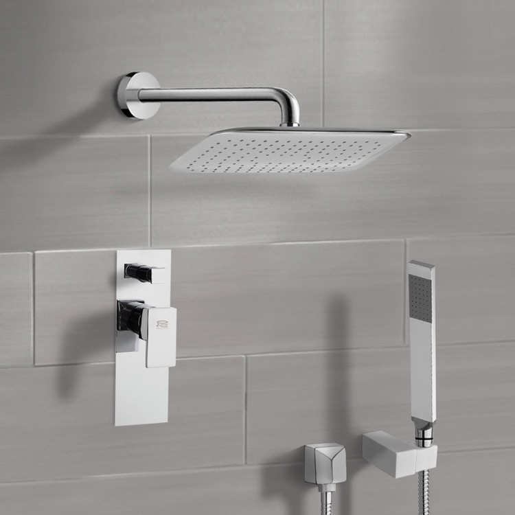 Shower Faucet, Remer SFH6057, Chrome Shower System with 14